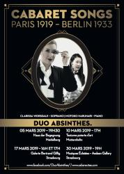 Cabaret songs - Paris 1919 - Berlin 1933Duo Absinthes. - Cabaret Songs - Paris 19191 - Berlin 1933