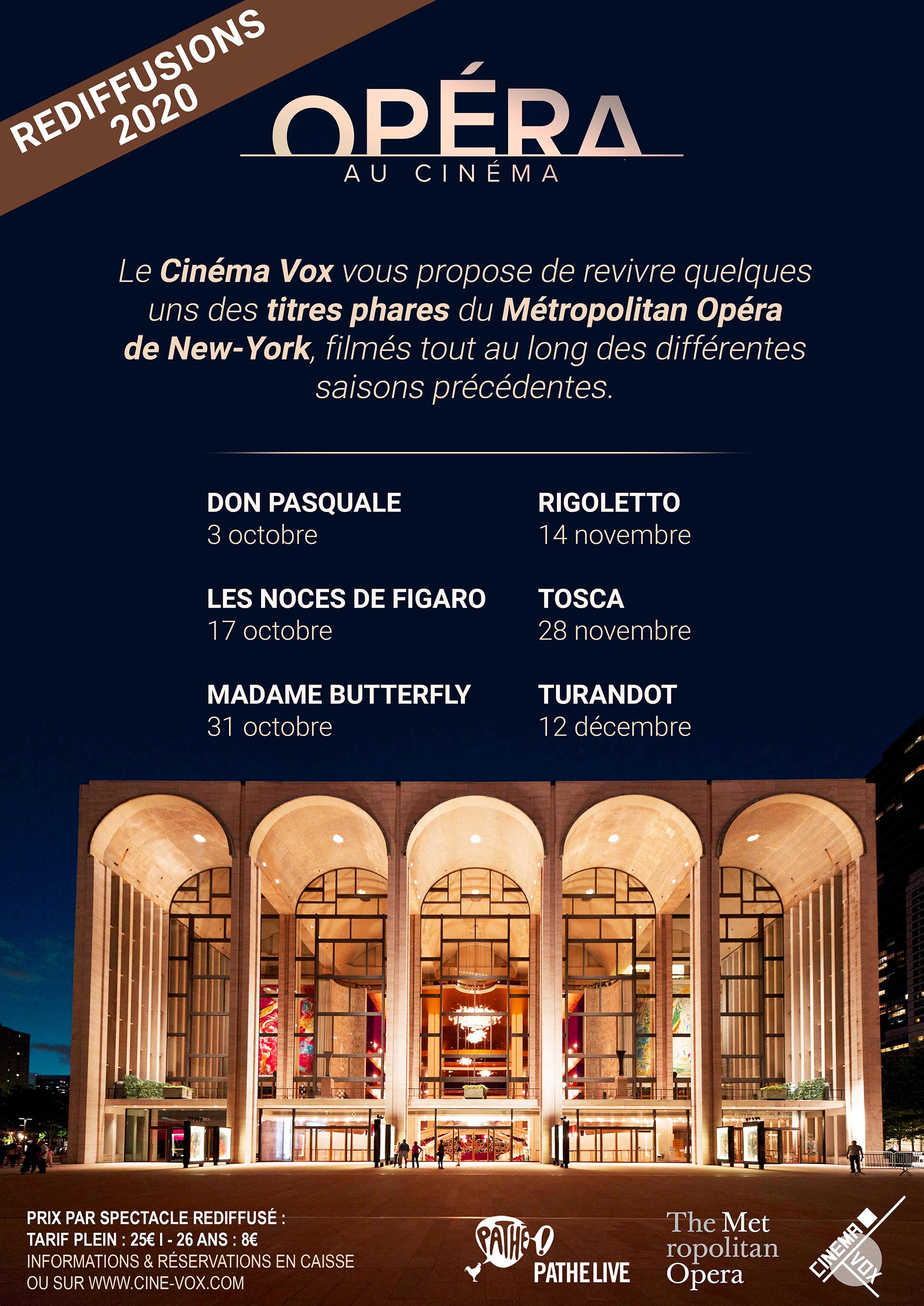 Rediffusions Opéra - Cinéma Vox