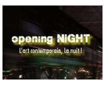 opening NIGHT L'art contemporain, la nuit !